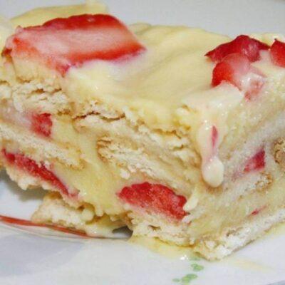 Torta de Morango sem Forno